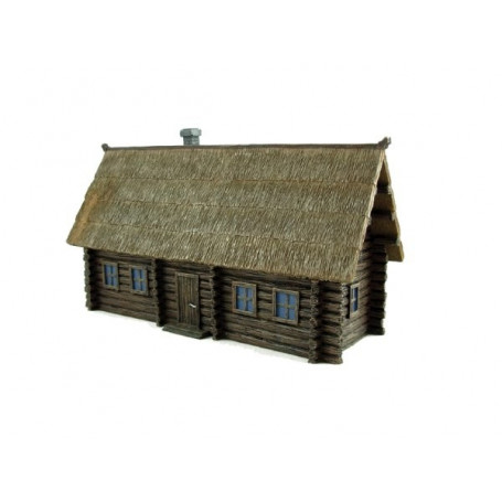 Russian Izba (Wooden building/Thatch roof)