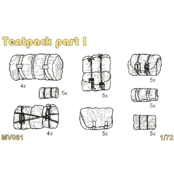 Tentpack part I set contains detailed Tentpack x 37 pcs.
