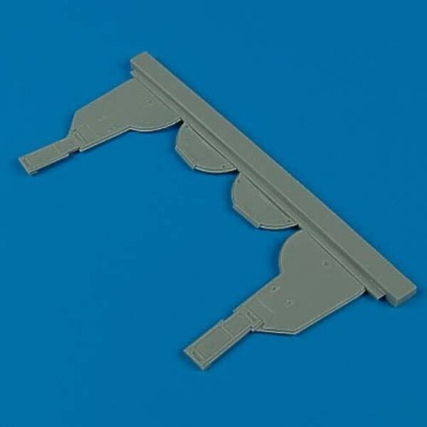 Kawasaki Ki-61 Hein undercarriage covers (designed to be assembled with model kits from Hasegawa)
