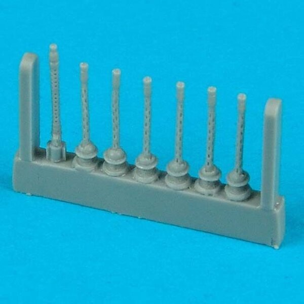 Heinkel He 111H-6 gun barrels - late version (designed to be assembled with model kits from Hasegawa)
