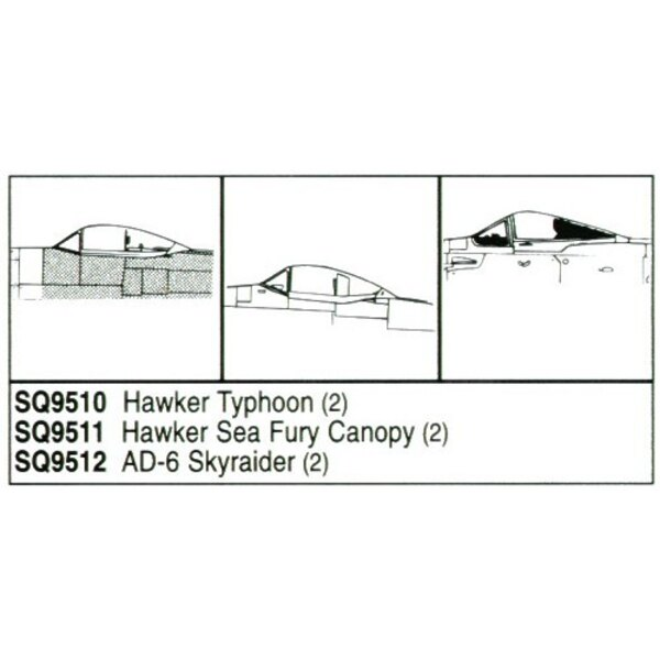 Hawker Typhoon x 2 (designed to be assembled with model kits from Monogram)