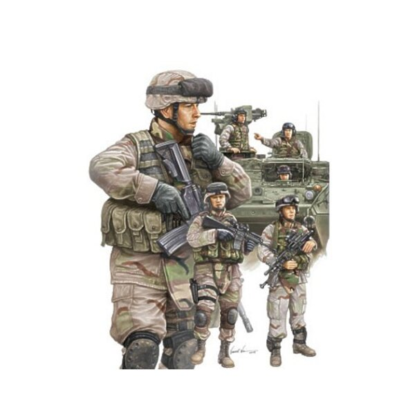 Modern US Army Armour Crew & Infantry Set