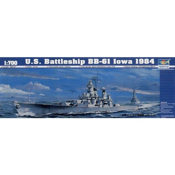 USS Battleship BB-6I Iowa 1984