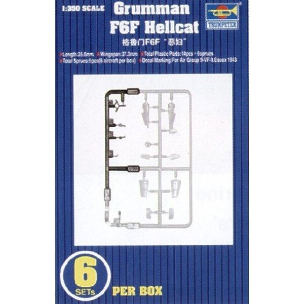 Grumman F6F Hellcat. 6 sets per box