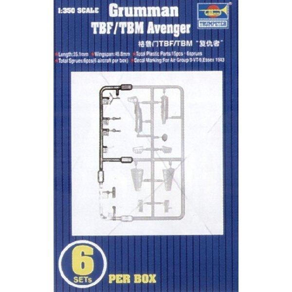 Grumman TBF-1/Grumman TBM-3 Avenger. 6 sets per box