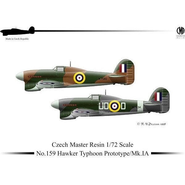 Hawker Typhoon Prototype/Mk.IA with optional parts and decal for the first Typhoon Prototype P5212 Hawker Typhoon (Prototype) -