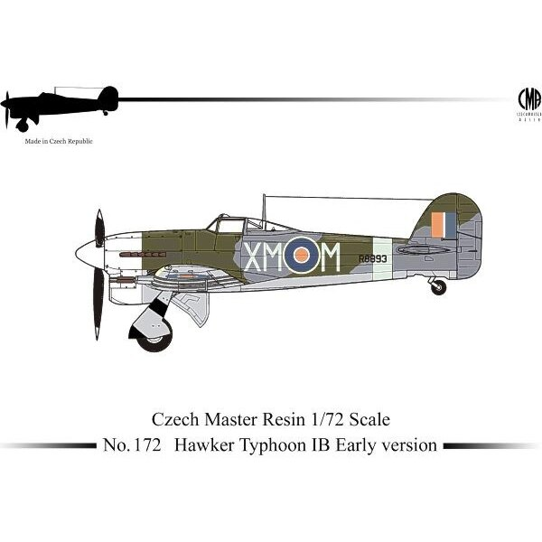 Hawker Typhoon Mk.IB early version with decals. (New tooling. Replaces CMR5077) Hawker Typhoon Mk.IB - R7698 -- ′Z-Z′: Personal