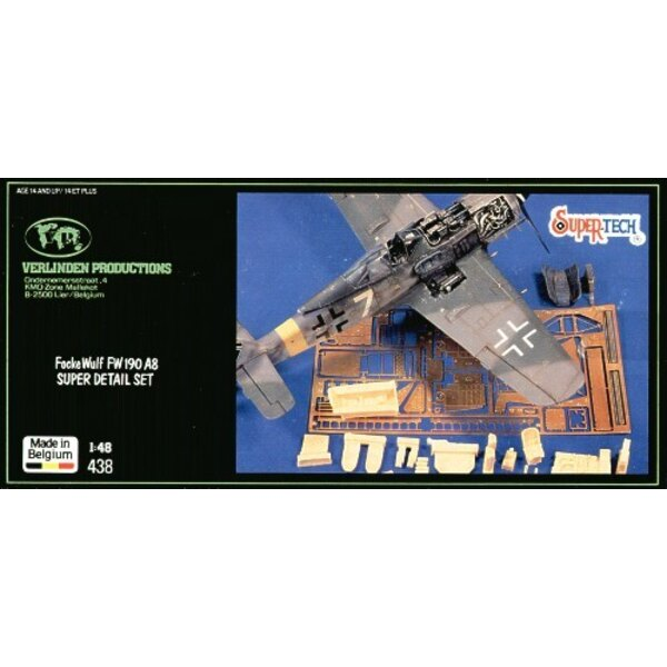 Focke Wulf Fw 190A-8/Focke Wulf Fw 190F-8 details (designed to be assembled with model kits from Dragon)