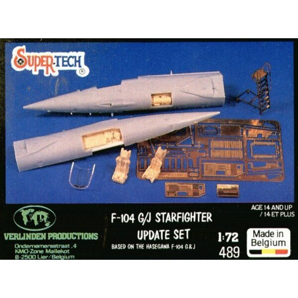 Lockheed F-104G Starfighter update (designed to be assembled with model kits from Hasegawa)