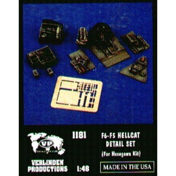 Grumman F6F-5 Hellcat update set (designed to be assembled with model kits from Hasegawa)