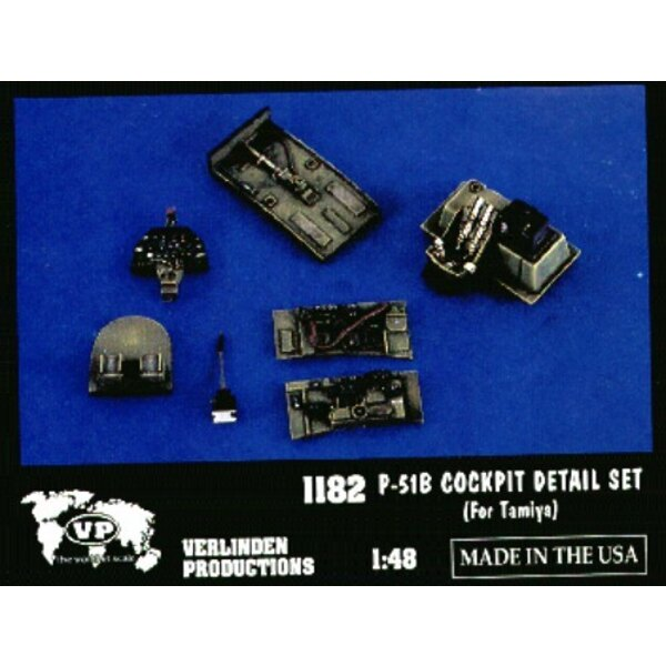 North American P-51B cockpit detail set (designed to be assembled with model kits from Tamiya)