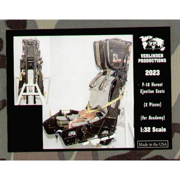 McDonnell Douglas F/A-18 ejection seats x 2 (designed to be assembled with model kits from Academy)