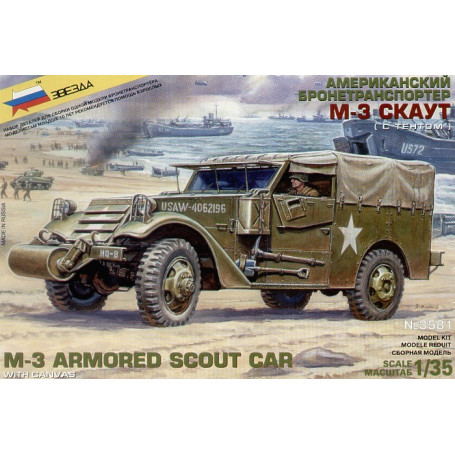 M3 Scout Car with canvas top