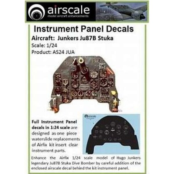 Junkers Ju 87B Stuka Full Instrument Panel (designed to be used with model kits from Airfix)