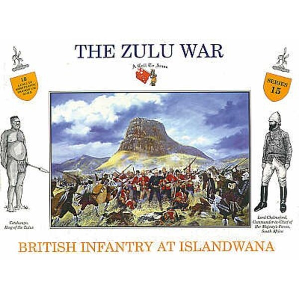 British Infantry Islandwana 16 figures