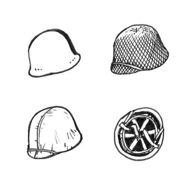 US WWII Helmets (6 pcs)