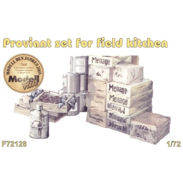 Field Kitchen provisions set. Could also be useful provisions for loading on to the U-Boat Type VIIc (designed to be assembled w