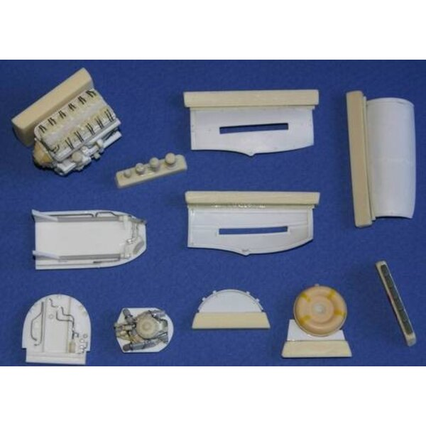Hawker Typhoon Mk.Ib - engine set Set contains photo-etched and resin parts such as new Napier Sabre engine exhaust stacks engin