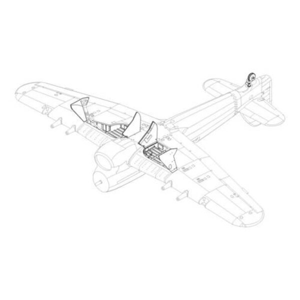 Hawker Typhoon Mk.I undercarriage (designed to be assembled with model kits from Hasegawa)