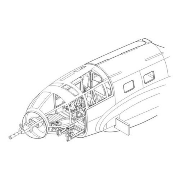 Heinkel He 111H interior set (designed to be assembled with model kits from Hasegawa)