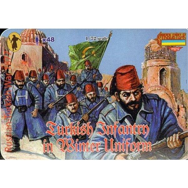 Turkish Infantry in Winter Uniform 1877 Russo-Turkish War 1877