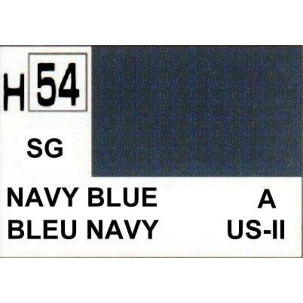 H054 Navy Blue matt