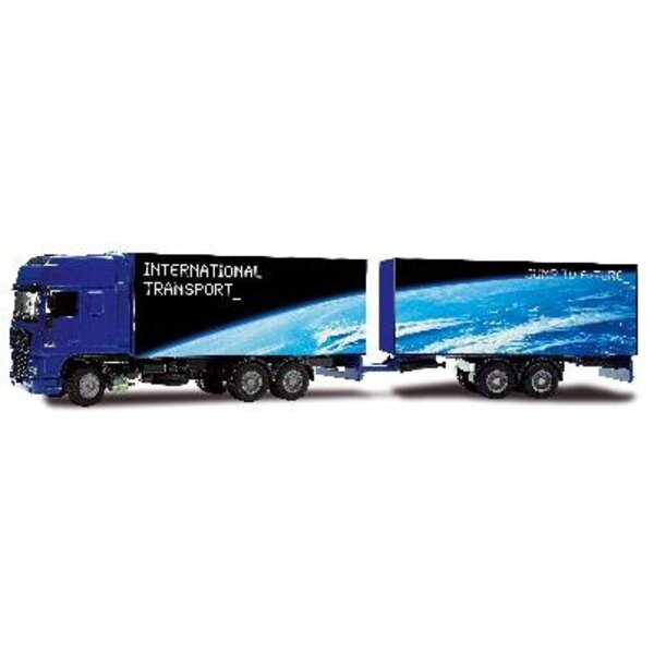 Truck Daf XF with double trailer 1:50