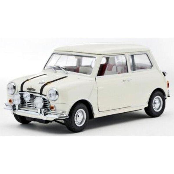1969 Mini Cooper White 1:18