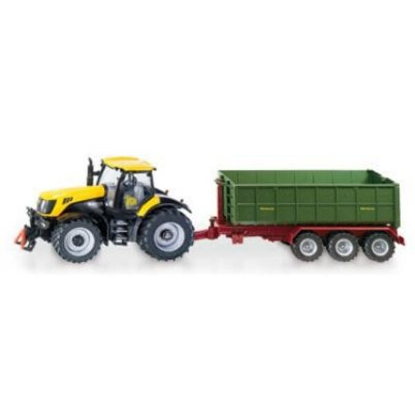 Tractor JCB + Hook Lift Trailer 1:87