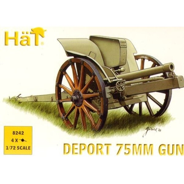 WWI Italian 75mm Deport Gun