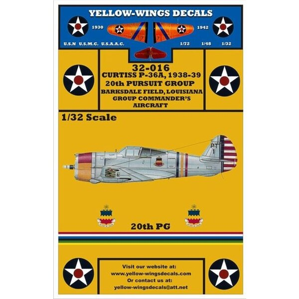 USAAC P-36A (designed to be assembled with model kits from Special Hobby)