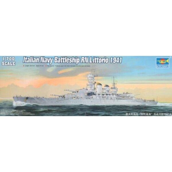 Italian Navy Battleship RN Littorio 1941