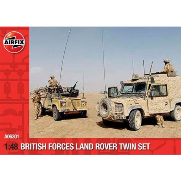 British Forces Land Rover Twin Set. Pack contains Land Rover ′Snatch′ and Land Rover Wolk WIMIK.