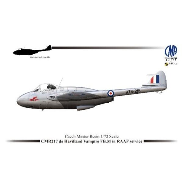 de Havilland Vampire FB.31 in RAAF Service with photo-etched parts and paint mask