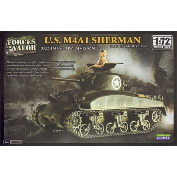 M4A1 Sherman - WARNING : this is a model kit and NOT a ready built miniature
