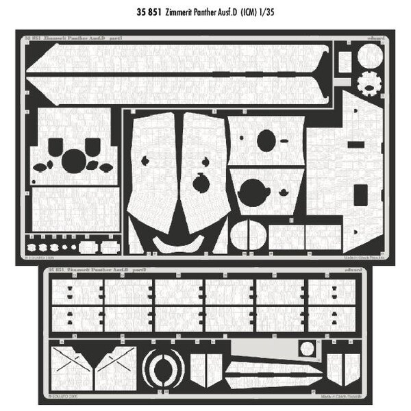 Zimmerit Panther Ausf.D (designed to be assembled with model kits from ICM)