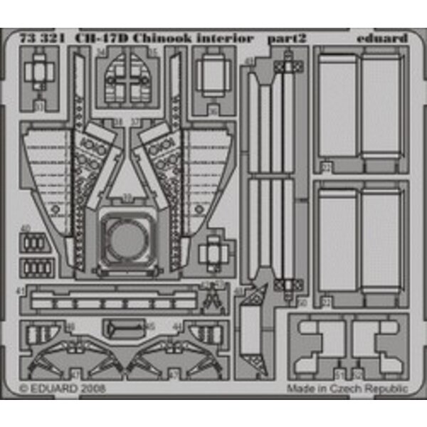 Boeing CH-47D interior (self adhesive) PRE-PAINTED IN COLOUR! (designed to be assembled with model kits from Trumpeter)