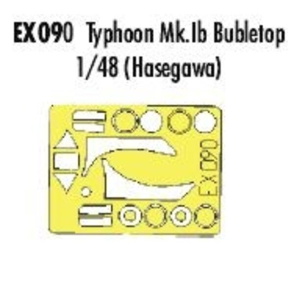 Hawker Typhoon Mk.IB Bubbletop canopy fame and wheels etc (designed to be assembled with model kits from Hasegawa) (made from ye