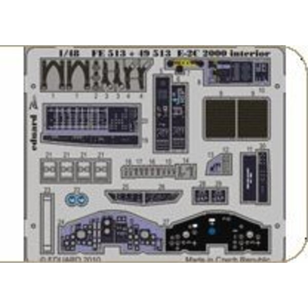 Grumman E-2C Hawkeye 2000 interior (self adhesive) (designed to be assembled with model kits from Kinetic)