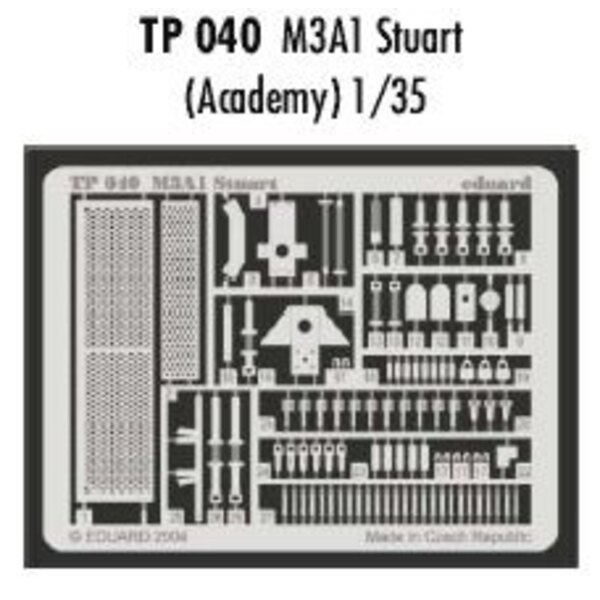 M3A1 Stuart (designed to be assembled with model kits from Academy)