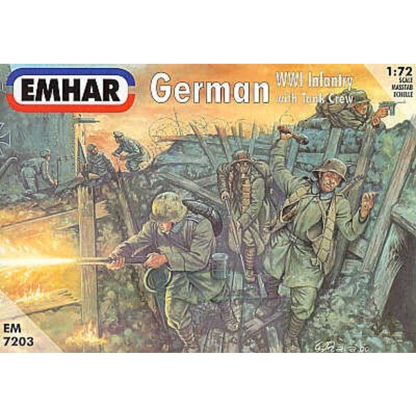 WWI German infantry and Tank Crew