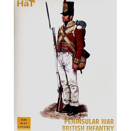 Peninsular War British Infantry x 92 figures per box