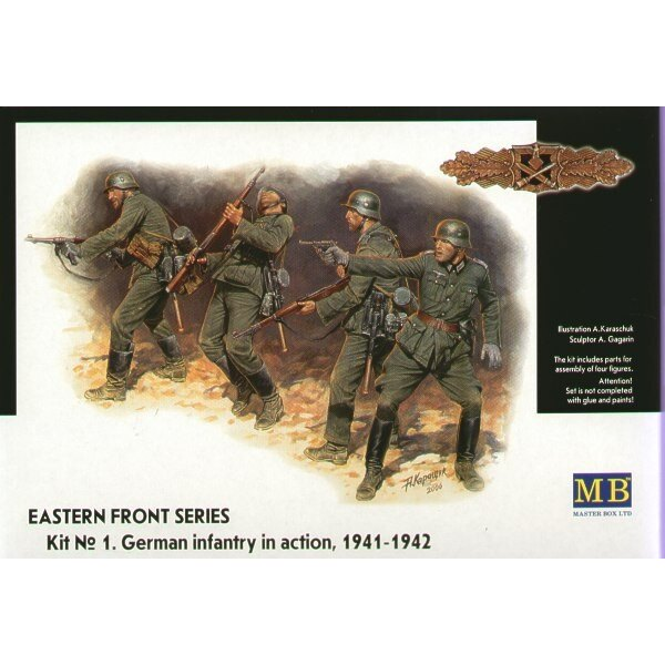 Eastern Front Summer 1941 German Infantry (4 fig.)