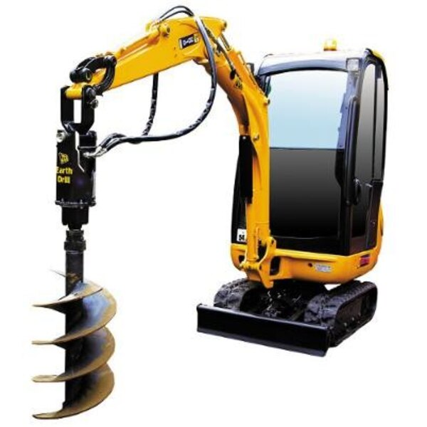 JCB 8016 Mini Excavator with Earth Drill