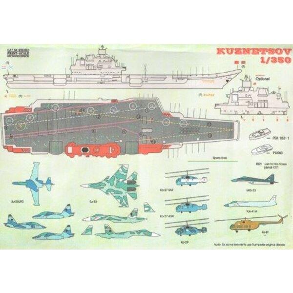 Russian aircraft carrier Admiral Kuznetsov and Soviet Varyag aircraft carrier