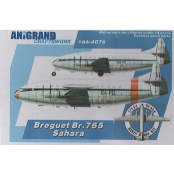 Bregeut Br.765 Sahara. Military freighter version of Deux-Ponts. Includes bonus kits of the Mirage G8-01 / Sub-Ouest SO.4000 / L