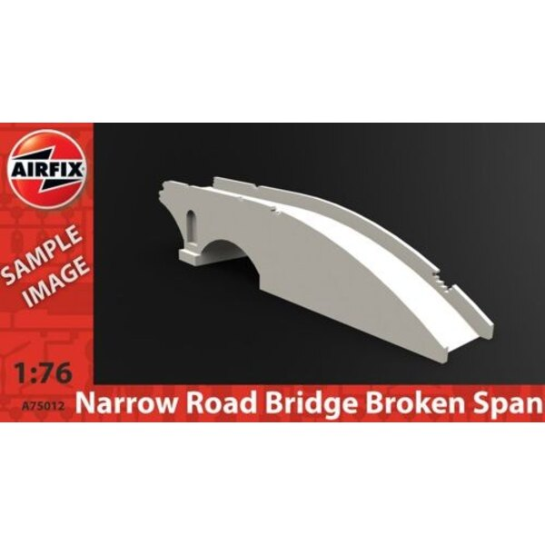 Narrow road bridge broken span