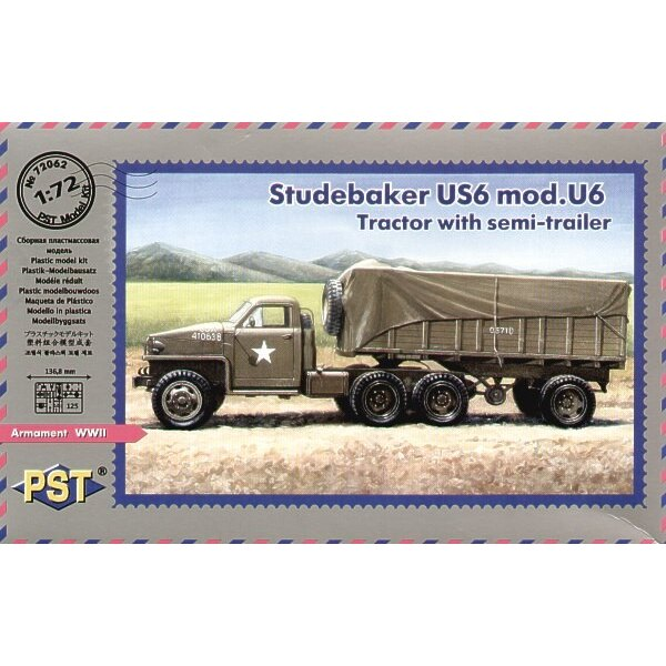 Studebaker US6 mod Tractor with semi-trailer