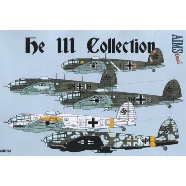 Heinkel He 111 Collection' Includes; He 111 P-1 B3+BK of 2./KG 54 Battle of France 1940 He 111 H-1 6N+IH of 1./KG 100 Norway 194
