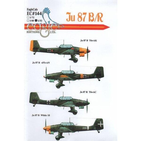 Junkers Ju 87B/Ju 87R 'Stuka'. Ju 87B-2 T6+AK St.G 2; Ju 87B-2 <F1+AN 8./St.G. 77 Russia 1941; Ju 87R-2 T6+AC Stab II./St.G.